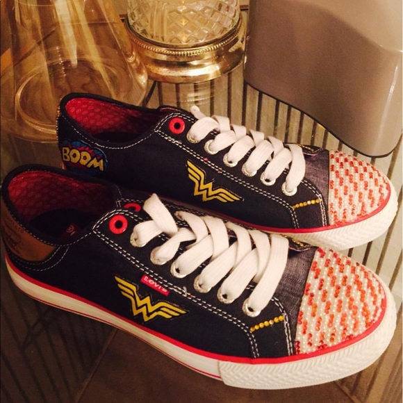 super popular 50% off Sales promotion Custom Wonder Woman Sneakers (Made to Order)