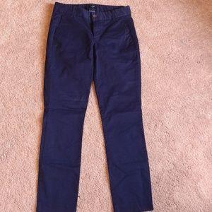J. Crew Straightleg navy blue pants