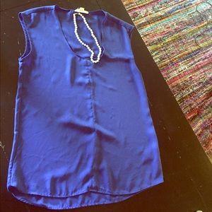 Stella Luce Tops - Stella Luce cobalt blue dress top