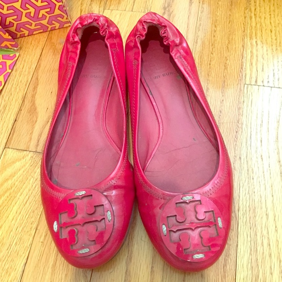 Tory Burch Orchid Pink Patent Reva