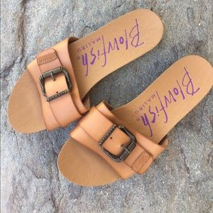 Blowfish Shoes - Blowfish tan slide sandal