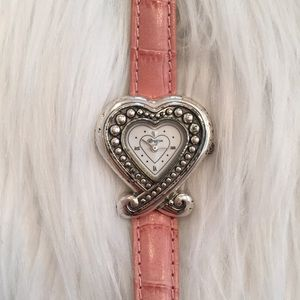 Brighton pink heart shaped watch