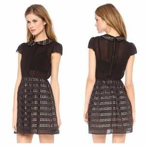 Alice + Olivia Anita Pleated Collar Dress