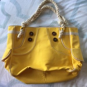 Yellow Rope Handle Tote