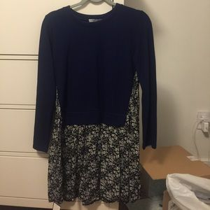 NWT Goodnight Macaroon Navy sweater dress