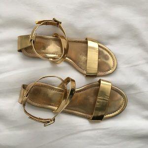 J. Crew Shoes - J. Crew gold sandals