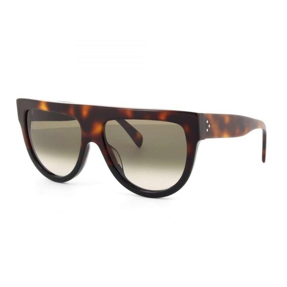3f960358dbb5 Celine Shadow Sunglasses Tortoise Black CL41026 S