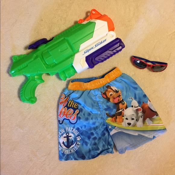 7fd6b293a4187 Nickelodeon Paw Patrol Swim Trunks NWOT. M_58ffdb5dd14d7b17c80007d1