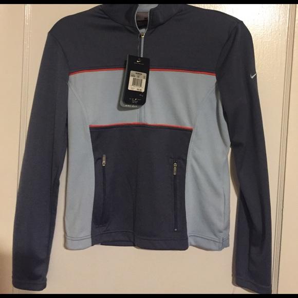 b678b0975607 Nike blue dri-fit quarter zip in women s XS NWT