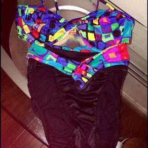 Maxine of Hollywood Other - Vintage 80 90s Swimsuit Maxine Hollywood 10 Bikini