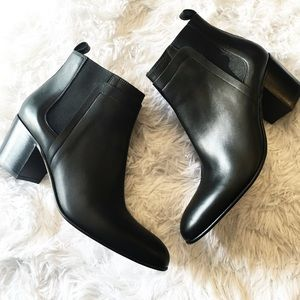 Vince Shoes - New Vince Hallie Black Leather Ankle Boots