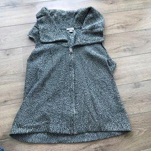 J. Jill Sweaters - J.jill cotton wool sleeveless full zip up sweater