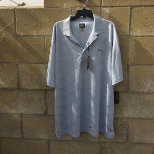 "Greg Norman Other - GREG NORMAN Polo Shirt, baby blue, ""the Shake"""