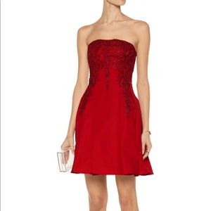 Marchesa Dresses & Skirts - Marchesa Notte red strapless party prom dress