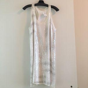 Club Monaco Sequin white dress