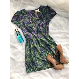 Purple , Blue and green floral dress!