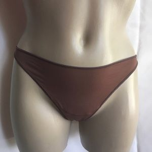 Le Mystere Other - Le Mystere Brown Low Rise Thong Panty S or XL NEW