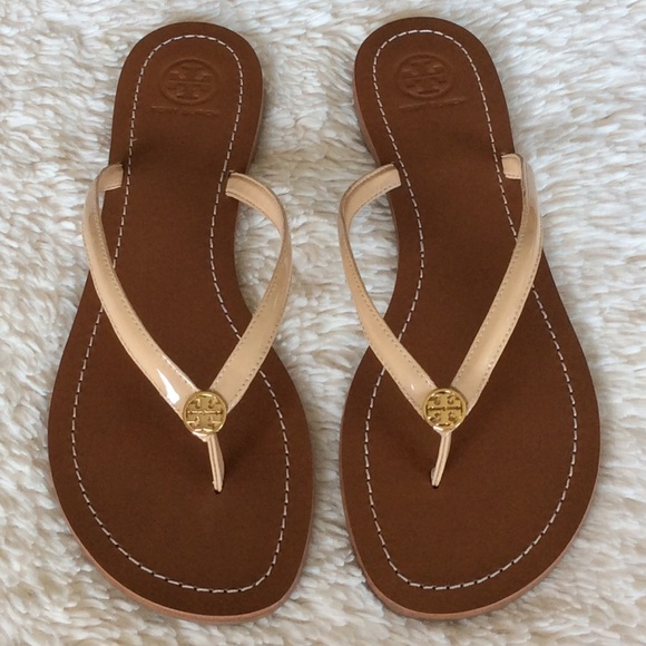 fb20cb7366f NEW TORY BURCH TERRA PATENT THONG SANDALS