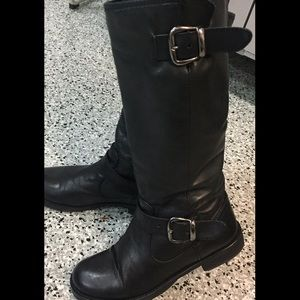 Aldo Shoes - Also tall black leather biker boots