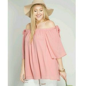 She and Sky Tops - She and Sky Plus size off the shoulder top