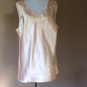 cabernet Tops - Plus size 1x satin camisole cami tank top Cabernet