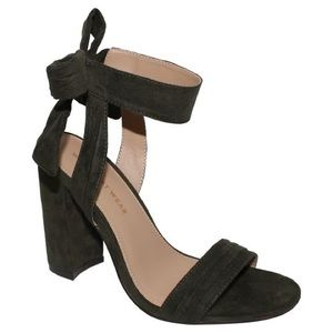 Who What Wear  Shoes - NWT faux suede olive green block heel.