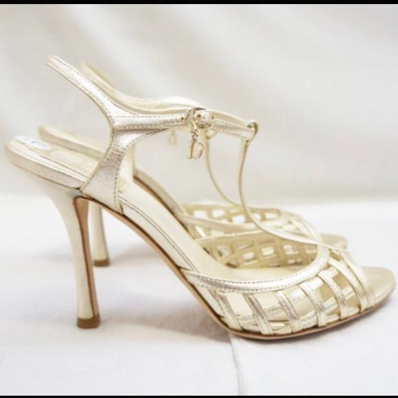 Christian Dior Leather Whisper Sandals buy cheap discount D4VWkAJ8vy