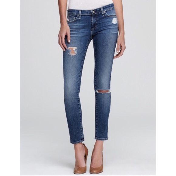 c923ae69d8552 AG Adriano Goldschmied Denim - AG Legging Ankle 18 Years Destroyed Ripped  Skinny