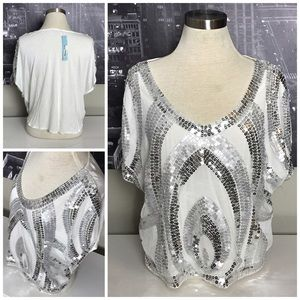 do & be Tops - NWT Do & Be Sequin Top