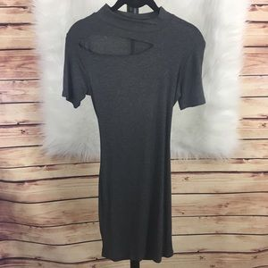 Acemi Dresses & Skirts - 🆕 Charcoal gray cut out dress (brand new)