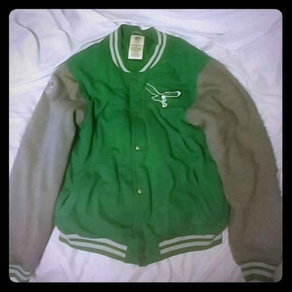 dee23b55 Vintage Philadelphia Eagles Reebok Jacket SZ XL