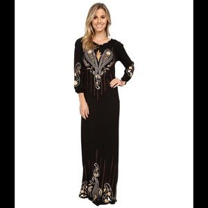 Scully Dresses & Skirts - 2 Day Sale-NWT Scully Embroidered Dress Black Gold