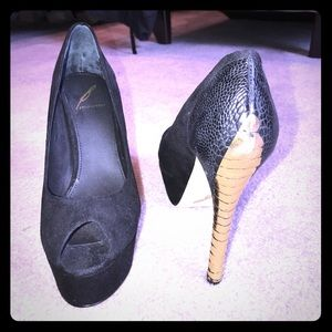 B Brian Atwood Shoes - B Brian Atwood Peep Toe Platform Pumps