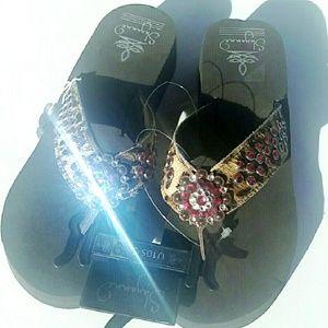 Shyanne  Shoes - RHINESTONE COWGIRL FLIP FLOPS