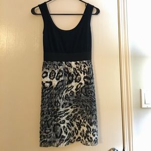 ⭐️MAKE AN OFFER⭐️ Leopard print black/white dress