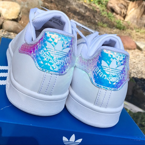 lower price with da642 31b23 💎Adidas Stan Smith iridescent 3D diamond sneakers NWT
