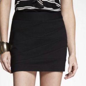Express black mini skirt size 4