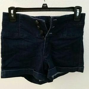 bebe Pants - BEBE HIGH WAIST SHORTS