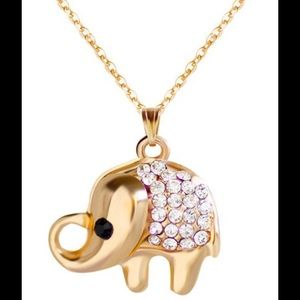 Jewelry - 🐘Rhinestone Lucky Elephant Necklace 🐘