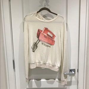 "Wildfox Sweaters - 🆕 Wildfox ""whipped"" long sleeve sweatshirt"