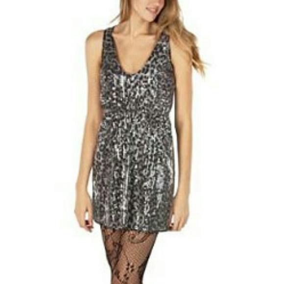 Rodarte Dresses & Skirts - Rodarte Sequin Dress in Gray Leopard