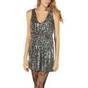 Rodarte Dresses - Rodarte Sequin Dress in Gray Leopard