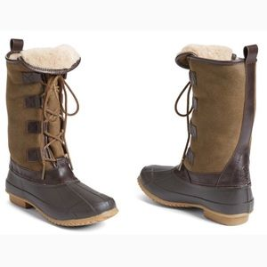 Tory Burch Shoes - Tory Burch Argyll Shearling Lined Lace Up Boots