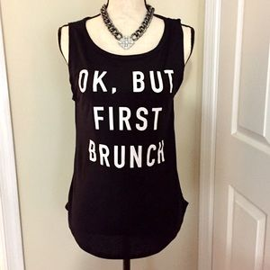 Fifth Sun Tops - NWT Ok But Brunch First Tank Top Shirt SZ S