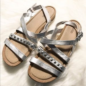 Ecco Shoes - Ecco silver sandals