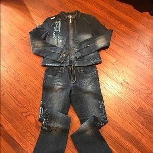 Akdmks denim jacket and jeans