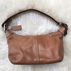 COACH Leather Small Hobo Handbag