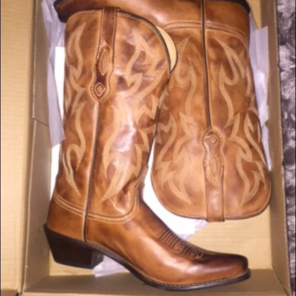 1db770072fe Real leather cowboy boots. Super comfy & gorgeous! NWT
