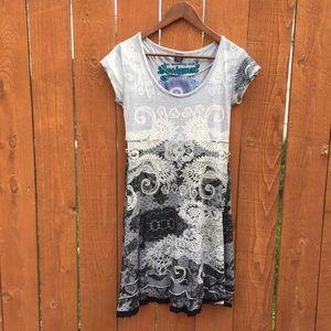 Desigual Dresses & Skirts - Desigual jersey lace print a line dress L