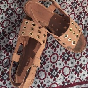 J. Crew Shoes - J Crew leather grommet sandals